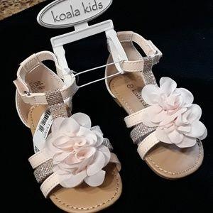 Koala Kids little girl  Sandals NWT